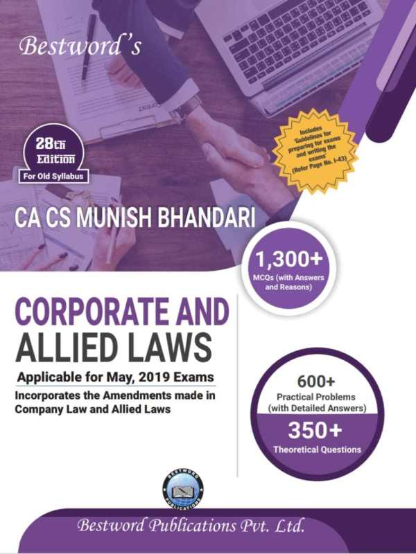 Corporate And Allied Laws Old Syllabus  - Online Book Mart