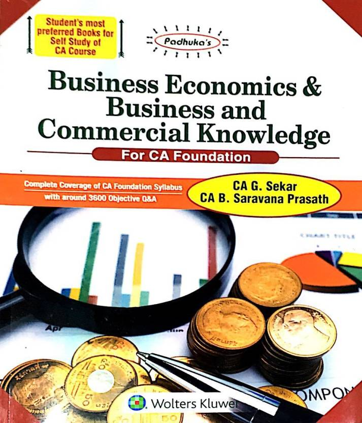 Business Economics & Business and Commercial Knowledge New Syllabus for CA Foundation   - Online Book Mart